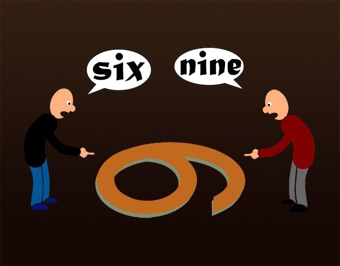 οπτική οι δύο πλευρές του έξι